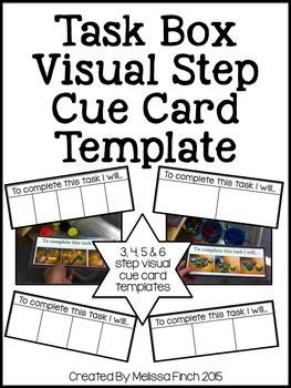 webisode cue cards templates task box visual directions templates for autism programs