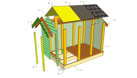 free play house plans simple playhouse diy woodideas