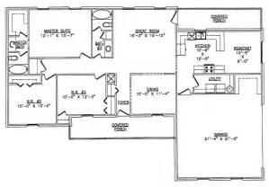 Floor Plans For 40x60 House by 40x60 Metal Home Floor Plans Joy Studio Design Gallery