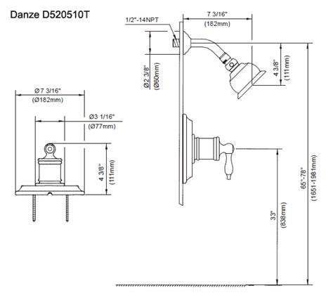 shower plumbing in dimensions quotes