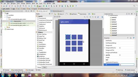 frame layout android studio gato con matriz parte 1 android studio 2 1 youtube