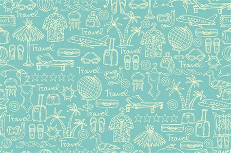 www pattern pattern with travel symbols on blue patterns on creative