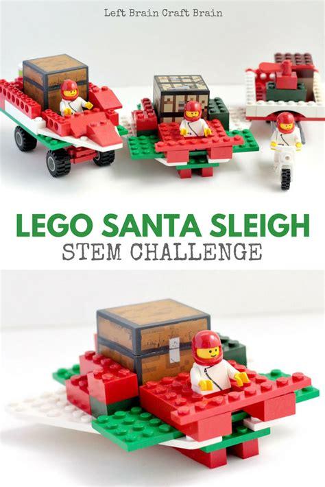 lego santa sleigh stem building challenge left brain craft brain