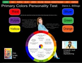 colors personality test primary colors personality test by billings lds