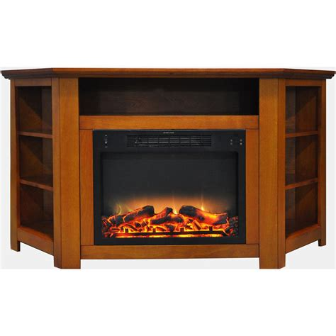 fireplace display hanover tyler park 56 in electric corner fireplace in
