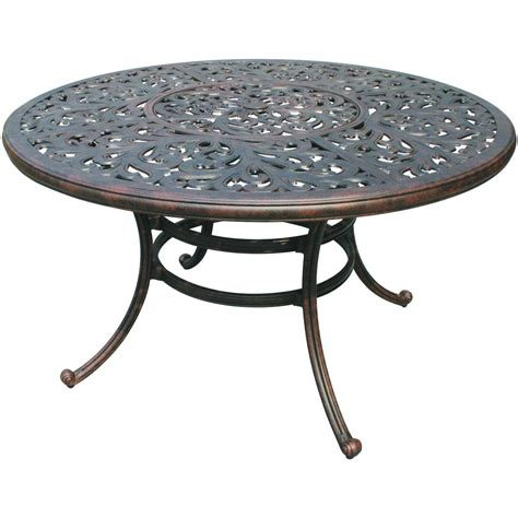Patio Dining Tables Only Darlee Series 80 52 Quot Cast Aluminum Patio Dining Table With
