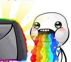 Drooling Rainbow Meme - puking rainbows rainbow puke barf pinterest doodles