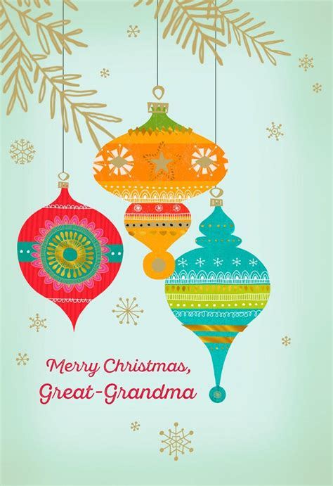 great grandma ornaments merry christmas card greeting cards hallmark