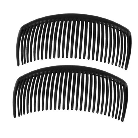 Mapepe Hair Black 2 Pcs 2 pcs black plastic comb hair clip cl for