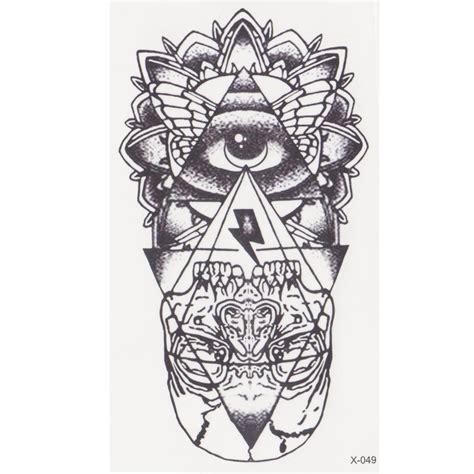 tahan air temporary tattoo stiker sexy lucu kartun castle desain gt gt gt smart deals fornew eye of god temporary tattoo sticker
