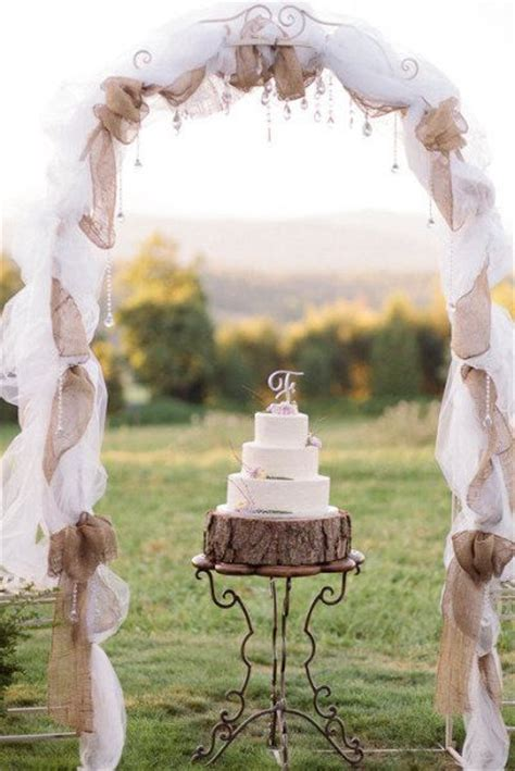 wedding arches decorated with burlap 50 chic rustic burlap and lace wedding ideas deer pearl flowers