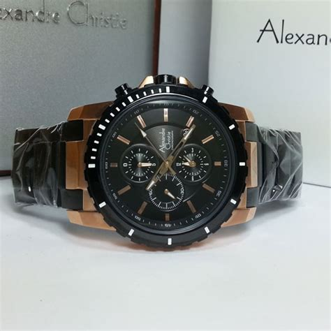 Christie Ac 2280 Black Rosegold Original alexandre christie ac 6141 black gold original murah