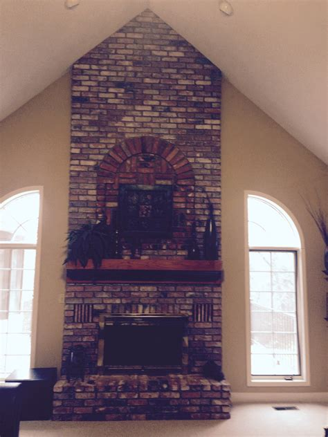 cover brick fireplace with how do i cover a brick fireplace with drywall fireplaces