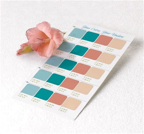wedding color swatches 5 best resources for picking your wedding colors