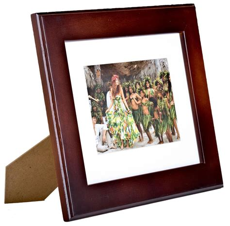 10 X 10 Wood Picture Frame W Mat by 5 Quot X 7 Quot Wood Picture Frames Mahogany Finish