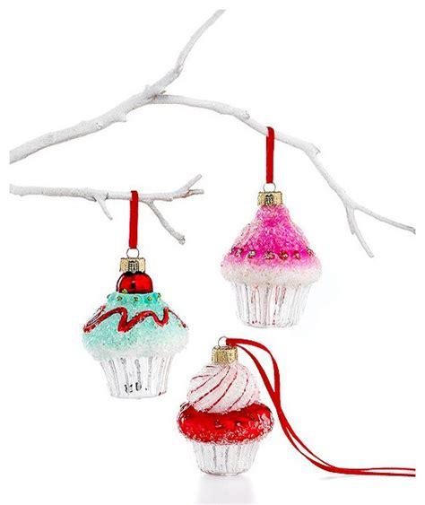 holiday lane christmas ornaments mini cupcakes