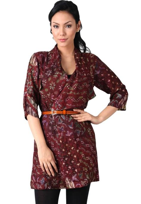 Batik Wanita S Batik contoh model baju batik ke kantor contoh model baju