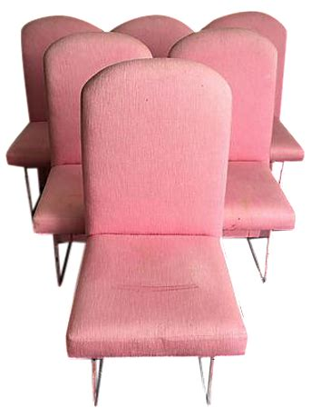 Pink Lucite Chair by Pink Lucite Dining Chairs Set Of 6 Chairish