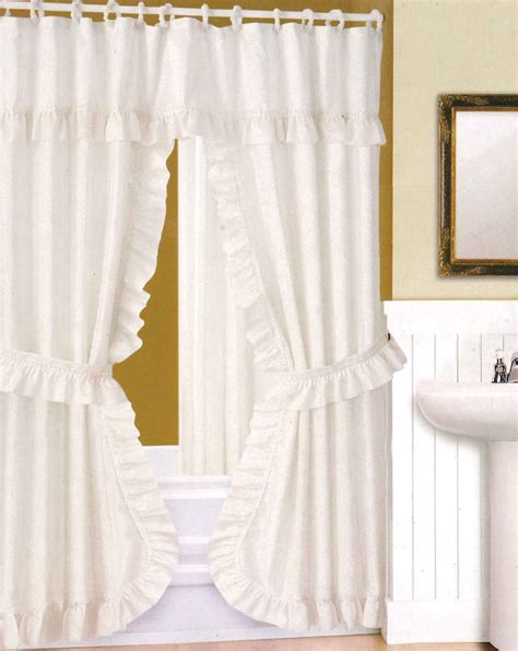 Double Swag Shower Curtain With Valance Decorticosis