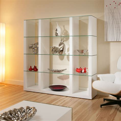 bedroom display shelves display cabinet glass shelves shelf white oak wood modern curio m39c ebay