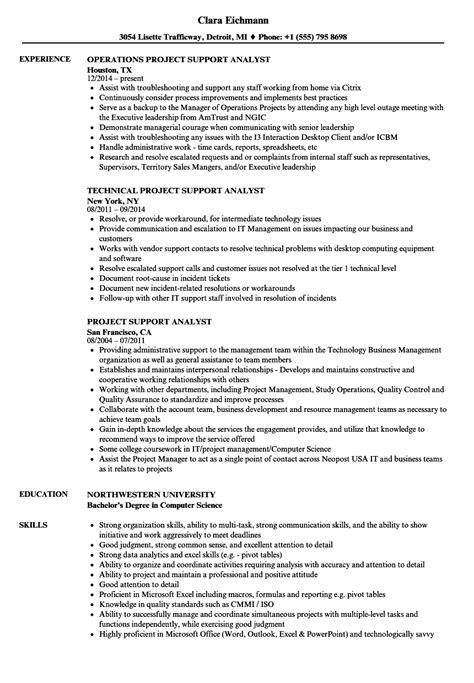 project analyst resume sle appointment letter us visa manila 28 images nvc