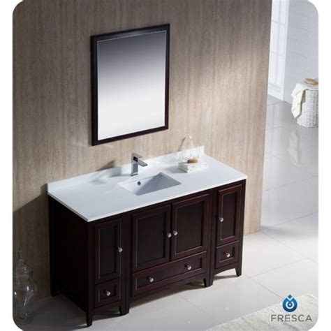 54 Vanity Cabinet by Fresca Oxford 54 Quot Bathroom Vanity In Mahogany Fvn20 123012mh