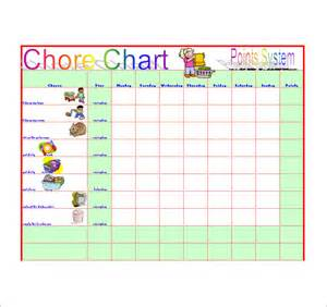 Chore List Template by Chore List Template 10 Free Sle Exle Format