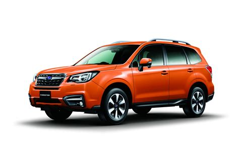 subaru orange 2017 subaru forester facelift revealed ahead of tokyo