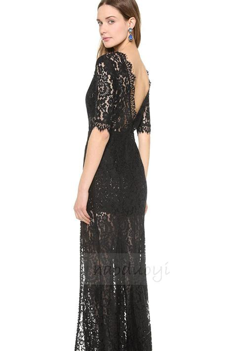 Dress Lgs Original 1 kettymore womens lace decorated dress one sided open leg dress length dresses black kettymore