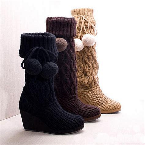 stricken schuhe knitted boots