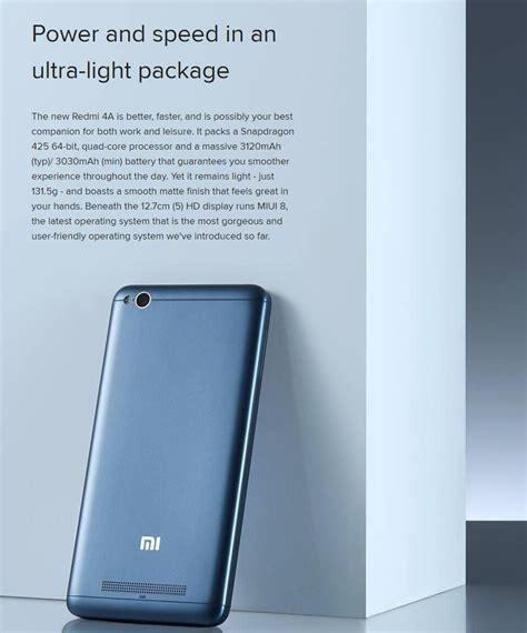Xiaomi Redmi 4a 4g 2 16 Gb White Gold Snapdragon 425 xiaomi redmi 4a 5 0 inch 2gb ram 16gb rom snapdragon 425 4g smartphone ebay