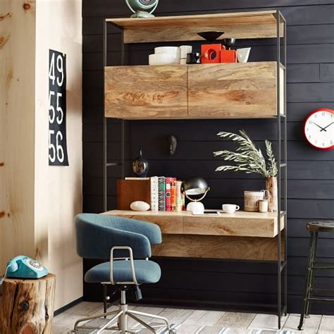 industrial modular  desk west elm