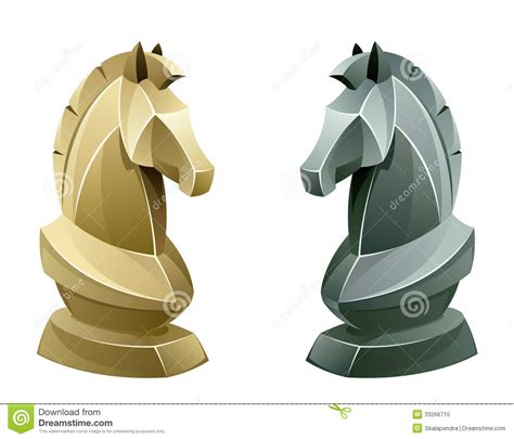 black and white chess knight royalty free stock photo