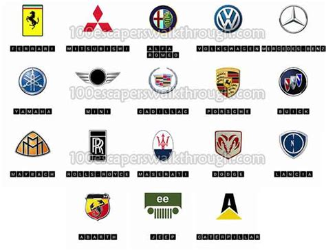 car logos quiz logo quiz cars answers 94 game answers for 100 escapers