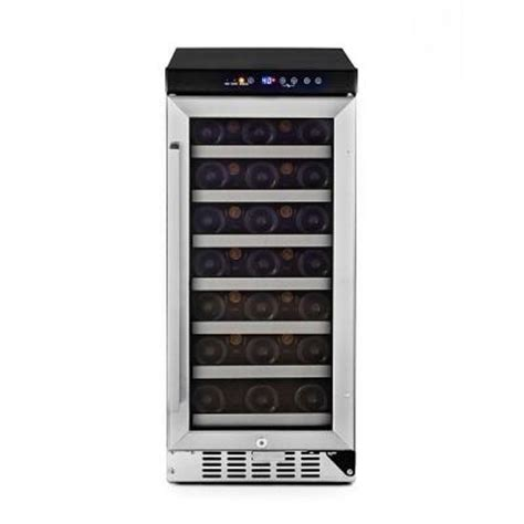 whynter 33 bottle built in wine refrigerator in stainless