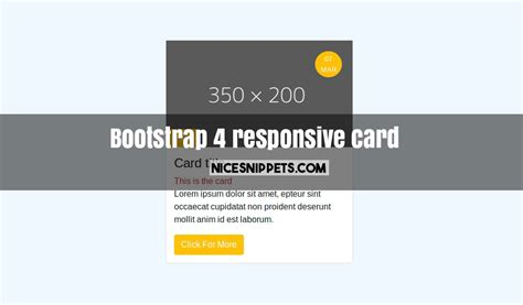 bootstrap responsive layout exles bootstrap 4 responsive card design exle