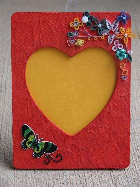 11 Best Frames Images On Pinterest Stencil Frames And | how to make handmade photo frames with handmade paper step
