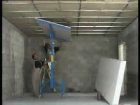 fitting plasterboard ceilings and walls