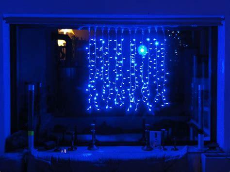 lichterketten vorhang 216 led lichterketten vorhang 1x1m blau f 252 r innen led
