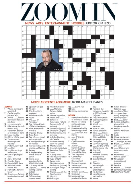 highly recommended film crossword movie moments and more may 2012 crossword puzzle