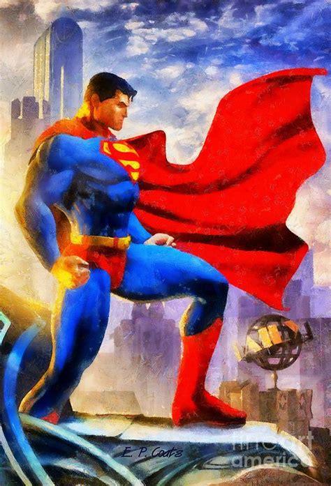 superman painting superman painting by elizabeth coats