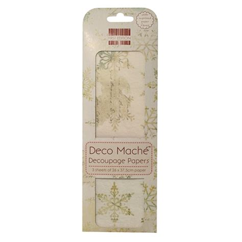 Deco Mache Decoupage Papers - deco mache decoupage papers snowflake craftyarts co uk