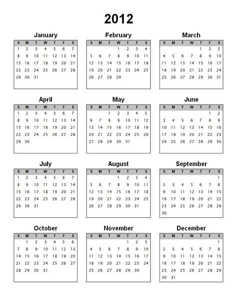 free yearly calendar templates free printable 2018 vertical calendar on one page
