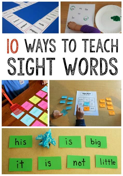 printable games to learn sight words 10 simple sight word activities word games activities