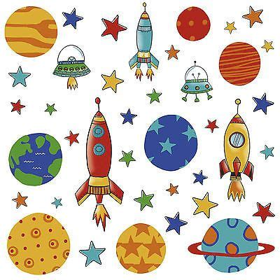 kinderzimmer bild rakete 39 wandsticker wandtattoo planeten raketen weltall