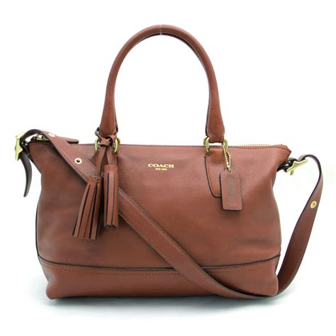 Coach Leather Satchel by Auth Coach Legacy Molly Satchel Handbag Brown Leather