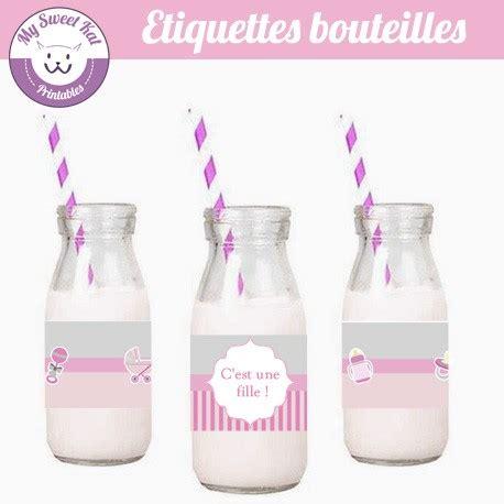Etiquette For Baby Shower by Etiquettes Pour Contour De Bouteilles Pour Une Baby Shower