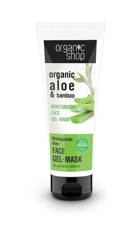 Shoo Organic Care moisturizing gel mask madagaskan aloe