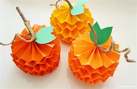 How To Make A Pumpkin With Construction Paper - how to make paper pumpkins for fall diy inspired
