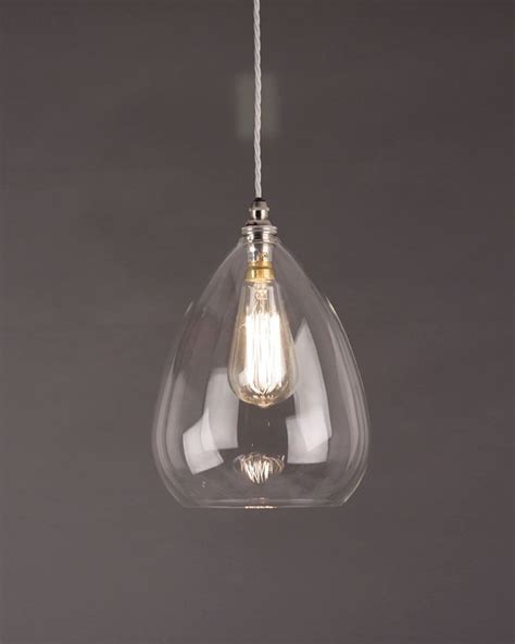 Pendant Glass Lighting with Wellington Clear Glass Pendant Light Fritz Fryer